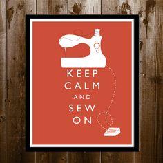 Garder calme et coudre sur, Craft Room Decor, couture décor, décor de mur de couture amant Art imprimable 8 x 10 Poster Print home déco en 4...