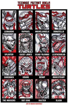 TMNT Roll Call Print by TheArtofRavenwolf on Etsy
