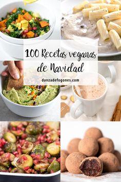 100 recetas veganas de navidad. Todas están riquísimas y la mayoría son muy sencillas y saludables. ¡Hay tantas opciones entre las que elegir!