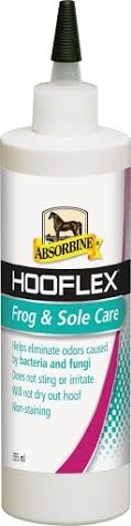 Absorbine Hooflex Frog and Sole Care Hooflex Frog Sole Care helps eliminate odours caused by bacteria and fungi Non-staining does not sting or
