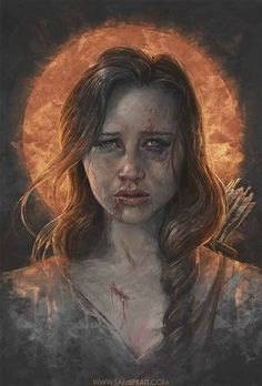 Katniss Everdeen - The Hunger Games Trilogy | The Most Amazing Pop Culture Art You Will Ever See