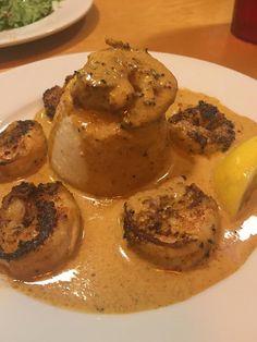 Shrimp & Grits served at AJs Dockside Restaurant on Tybee Island, GA. #VisitTybee