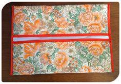 Carteira floral laranja R$15.00