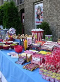 Movie party theme, it could be a movie/picnic party outside while watching a movie on a big screen somewhere outside.  :)