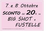 #sconto #pointincraft #bigshot #fustelle #fustella #ottobre #faidate #feltro #carta #fustellatrice #progetti #hobby