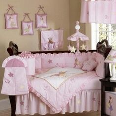 Baby girl nursery rhyme themed room