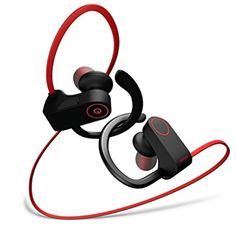 Otium Bluetooth Headphones, Best Wireless Earbuds Waterproof Sports Earphones w/Mic HD Stereo Sweatproof in-Ear Earbuds Gym Running Workout 8 Hour Battery Noise Cancelling Headsets Best Bluetooth Headphones, Iphone Headphones, Headphones For Sale, Headphones With Microphone, Sports Headphones, Noise Cancelling Headset, Cool Tech Gifts, Gym, Running