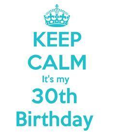 KEEP CALM It's my 30th Birthday
