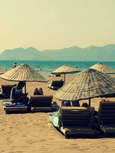Cozy beach huts at Dalyan, Turkey