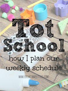 Planning a Week of Tot School