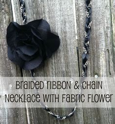 Happy-Go-Lucky: Braided Ribbon and Chain Necklace