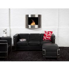 The Bio Blaze Diamond Collection Is A Curved Shape Wall Mounted Ethanol  Fireplace That Fits In Any Size Room. Whether Your Interior Is Contemporary  Or ...