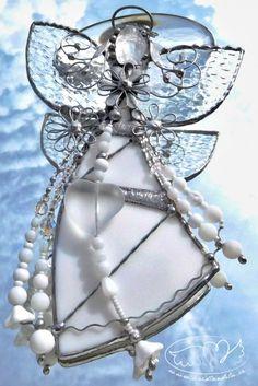 Vitrážoví andílci Brooch, Jewelry, Diamond, Jewlery, Jewerly, Brooches, Schmuck, Jewels, Jewelery