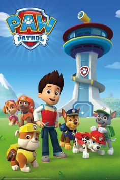 Paw Patrol Team - Official Poster. Official Merchandise. Size: 61cm x 91.5cm. FREE SHIPPING