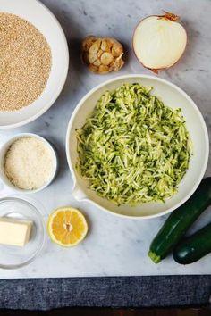 Recette - Quinotto de courgettes à l'ail rôti | 750g Risotto, Quinoa, Zucchini, Salad, Kitchens, Recipes
