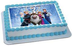 FROZEN 5 Edible Birthday Cake Topper OR Cupcake Topper, Decor