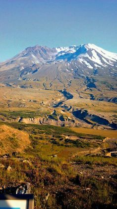 Mt St Helens Washington ~ What's left of it from the volcano explosion in May 18, 1980.