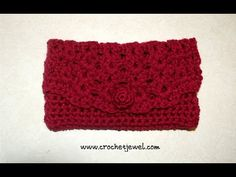 How to Crochet a Clutch Purse - YouTube
