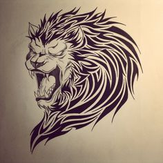 36 Cool Tribal Lion Tattoos