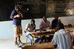Jasyn Filming the Meeting of the Board Members of the Teranga Community Fund