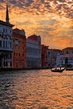 Sunset Over Grand Canal Venice, Italy