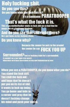 I normally am against pinning things that have profanity in them but I just had to pin this :] I love my Airborne Soldier! <3 <3 <3 <3 <3 <3 <3 <3