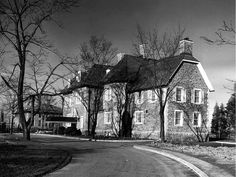 The Canadian prime minister's residence, 24 Sussex in Ottawa, in 1951.
