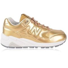 New Balance Wrt580Ms Trainers ($110) ❤ liked on Polyvore featuring shoes, sneakers, gold, lace up shoes, fleece-lined shoes, leather lined shoes, genuine leather shoes and leather sneakers
