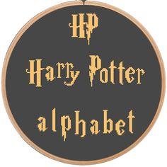 Alphabet  Harry Potter Cross Stitch Pattern by NikkiPattern