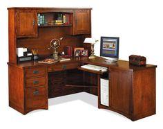 Mission Pasadena L Shaped Desk