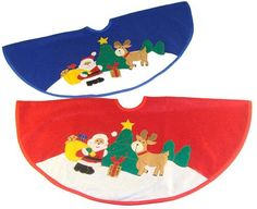 Club Pack of 48 Santa Claus with Reindeer Mini Christmas Tree Skirts 20""""