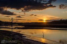 April sunset over the Boyne at Drogheda