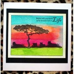 African Skies and Northern Lights - Crafter's Companion Portfolio