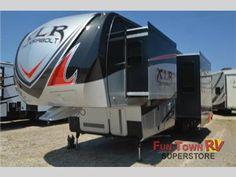 River rv xlr thunderbolt 415amp toy hauler fifth wheel at fun town rv