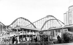 Cyclone Coaster, Dance Pavilion at right