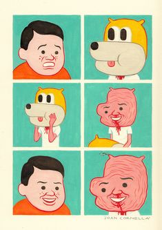 BORDERLINE DISTURBING COMICS FROM JOAN CORNELLA | via juxtapoz