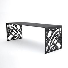You Are Here Paris Bench Black, $1,699, now featured on Fab.