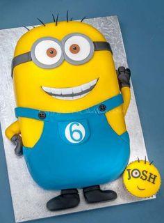 Childrens birthday cakes / birthday - Minion birthday cake and a special minion cupcake for Josh Birthday Cake Kids Boys, Minion Birthday, Birthday Parties, Cake Birthday, Birthday Ideas, Happy Birthday, Torta Minion, Bolo Minion, Minion Cakes