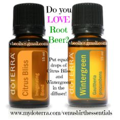 Rootbeer in your diffuser! Wintergreen and Citrus Bliss