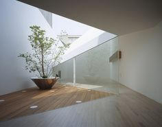 A Hill on a House Yuko Nagayama & Associates Daici Ano - Architecture and Home Decor - Bedroom - Bathroom - Kitchen And Living Room Interior Design Decorating Ideas - Architecture Du Japon, Architecture Courtyard, Courtyard Design, Japanese Architecture, Landscape Architecture, Interior Architecture, Interior Design, Habitat Collectif, Tree Plan