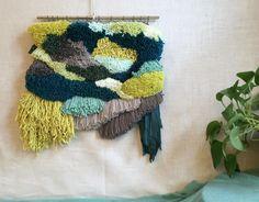 Woven Wall Hanging / Tapestry Wall Hanging / Modern Weaving / Fiber Art / Textile Art / Handwoven / Retro Shag Decor / Boho Home Decor / by FringesHouse on Etsy