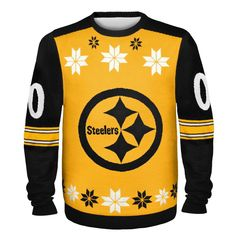 What do you give Pittsburgh Steelers fans for Christmas? How about Pittsburgh Steelers Ugly Christmas Sweaters? Ugly Sweater Day, Ugly Christmas Sweater, Xmas Sweaters, Christmas Gifts For Adults, Pittsburgh Steelers Jerseys, Trouble, Christmas Shopping, Being Ugly, Nfl