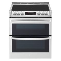 Double Oven Electric Range, Electric Oven, Double Ovens, Electric Cooker, Home Depot, Cleaning Oven Racks, Infrared Grills, Slide In Range, Food Temperatures