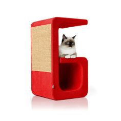 Letter G of the Alphabet collection. Scratchpad, resting areas, hideaway. Fabric developed for cats - highly resistant to scratching.