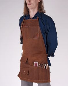 Red Clouds Collective Waxed Canvas Apron Tool Rool
