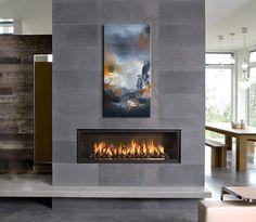45 perfect modern fireplaces for winter decor ideas 2 - Homeadzki Website Fireplace Tile Surround, Grey Fireplace, Bedroom Fireplace, Home Fireplace, Fireplace Remodel, Living Room With Fireplace, Fireplace Surrounds, Fireplace Design, Fireplace Ideas
