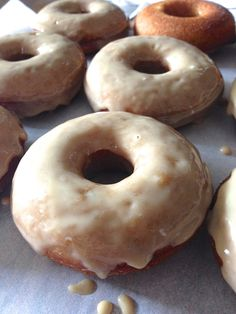 100% Whole Wheat Apple Cider Baked Doughnuts with Maple Glaze: hitting the sweet spot