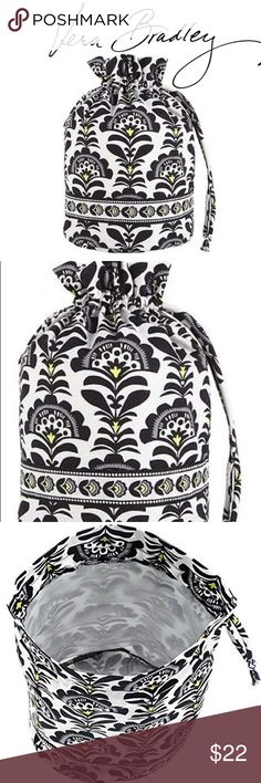 "BNWT Vera Bradley Bag Brand new with tags - Vera Bradley Ditty Bag Fabric. Lined bag for wet bathing suits or bottles that may spill. Use for snacks and games while traveling. Easy pull-style closure. Measures: 8"" x 13"" Pattern: Fanfare Retail Price $28   Check out my closet for over 200 NWT Retail Items - Free People, Wildfox, Chaser, & many more!   All prices are negotiable. Make me an offer:) Vera Bradley Bags Cosmetic Bags & Cases"