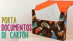 Carpeta/Archivero de Cartón ♥- DIY Portadocumentos - Regreso a Clases