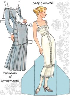 English Country Paper Dolls DOWNTON ABBEY Costume and Paper Doll 1 SAMPLES  Welcome to Dover Publications 3 of 6